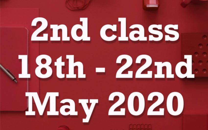 18th - 22nd May 2020
