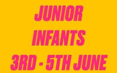 Junior Infants work 3rd - 5th June 2020